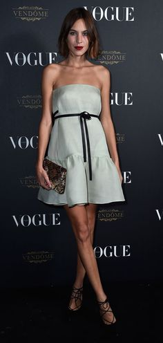 chic! [Alexa Chung @ Vogue Paris's 95th Anniversary Party]