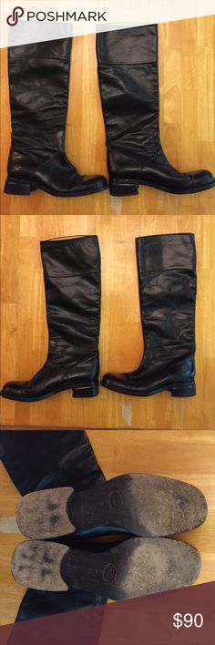 Authentic Joan & David Couture tall leather boots Joan & David Couture tall black leather boots. Around 1 inch heel. Size 8.5 Joan & David Shoes Heeled Boots