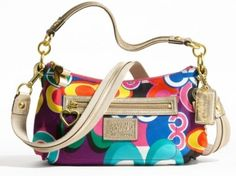 425.00$  Watch here - http://vieio.justgood.pw/vig/item.php?t=5trbd9n44748 - Authentic Coach Daisy Poppy C Print Crossbody Convertible Shoulder Small bag