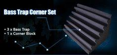 New 4 pcs Corner Bass Trap Set Acoustic Panels Sound Absorption Studio – Arrowzoom