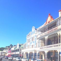 Simons Town, near Cape Town cape-cape-town Beautiful old Victorian style buildings near the Naval base Most Beautiful Cities, Beautiful Places To Visit, Table Mountain Cape Town, Namibia, Le Cap, Train Tour, Cape Town South Africa, Port Elizabeth, Welcome To The Jungle