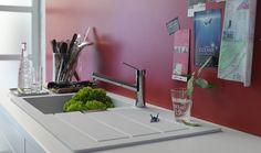 Franke onderhoudsvriendelijke Tectonite spoelbak - keuken ideeën | UW-keuken.nl #spoelbak