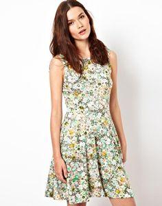 Image 1 ofWarehouse Fluro Flower Dress