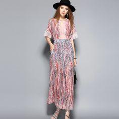 Pink Lace Chiffon Dress