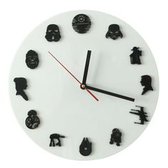 Check current price  1Piece Handmade Star Wars Iconic Wall Clock Sci-Fi Minifig Timepieces Home Decor Hanging Clock Creative Art just only $14.24 with free shipping worldwide  #clocks Plese click on picture to see our special price for you