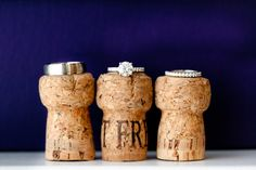 Paired Images used the corks from the bride and bridesmaids' pre-wedding champagne for this awesome wedding ring shot.