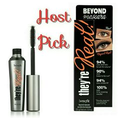 Benefit They're Real Mascara Full size tube of this awesome mascara, that plumps, lifts and curls. Black, new in box. Benefit Makeup Mascara
