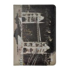 Retro Watercolor London with Lone London Bus London Bridge Travel Passport Cover | eBay