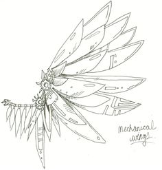 mechanical wings by KaraNari.deviantart.com on @DeviantArt