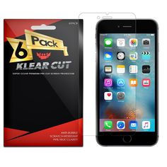 "Klear Cut [6 Pack] - Screen Protector for Apple iPhone 6S Plus 5.5"" - Lifetime Replacement Warranty - Anti-Bubble & Anti-Fingerprint High Definition (HD) Clear Premium PET Cover - Retail Packaging. This Klear Cut Protector Pack features a 6-Pack of Ultra Clear screen protectors for iPhone 6S Plus (Apple iPhone 6 Plus 5.5"") along with a set of detailed instructions, an installation squeegee and a microfiber cleaning cloth. Each Klear Cut screen protector cover is designed from a high…"