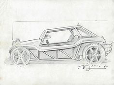1970 meyers manx buggy sketch