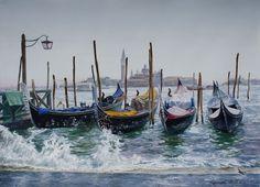АКВАРЕЛЬ: художница Виктория Кирьянова | Венеция. Солнечные брызги, 2011