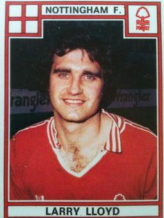 Larry Lloyd of Nottingham Forest in Nottingham Forest, Larry, Football, Baseball Cards, 1970s, Sports, Soccer, Hs Sports, Futbol