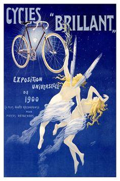¤ French ad reading : Cycles 'Brillant' Exposition Universelle de 1900. La plus haute récompense pour pièces détachées.