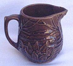 McCoy Water Lily Vintage Pottery Milk Pitcher