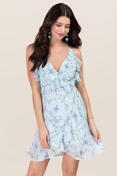 Cailah Floral Ruffle Wrap Dress
