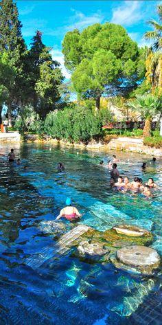 Thermal pools in Hierapolis, Turkey • photo: Luke Dean-Weymark on Behind the Lens Lukey
