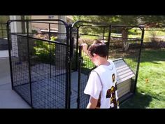 Dog Kennel Magnetic Latch - YouTube