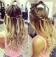 Beautiful hair for prom