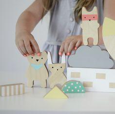 Cute, minimalist, Scandinavian looking toys