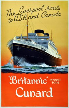 Original Vintage Posters -> Advertising Posters -> Cunard Britannic - AntikBar