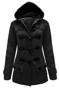 ENVY BOUTIQUE LADIES HOOD DUFFLE TRENCH HOODED POCKET COAT JACKET