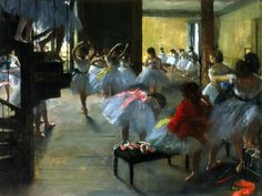 The Dance Class, By Edgar Degas, French Impressionist Painting, Oil On Canvas. Scene With Young Ballerinas At The Paris Opera House Poster Print Edgar Degas, Renoir, Degas Ballerina, Degas Dancers, Ballet Dancers, Ballerine Degas, Arte Van Gogh, Degas Paintings, Degas Drawings