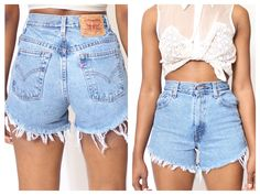 ALL SIZES Cut Off LEVIS Vintage High Waisted Shorts. $37.99, via Etsy.