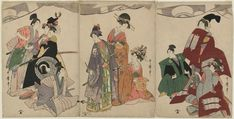 Kitagawa Utamaro: Women in Costume for a Soga Brothers Play - Museum of Fine Arts