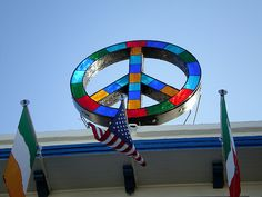Stelladanza's Confections: Stained Glass Peace Sign, Ocean Beach ...