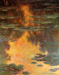 Claude Monet. Water Lilies  (1907).