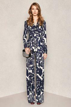 Diane von Furstenberg Pre-Fall 2015 Fashion Show - Model Manuela Frey