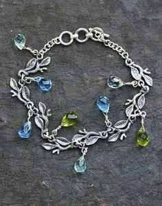 Sterling silver charm bracelet, 'Rainforest' - Sterling Silver Charm Bracelet (image 2a)