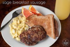 It's easy to make your own Sage Breakfast Sausage, and it just tastes better knowing you added all the spices yourself without any nasty preservatives.