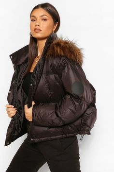 Padded Jacket, Faux Fur Jacket, Winter Jackets Women, Coats For Women, Plastic Raincoat, Puffer Jackets, Fur Jackets, Fashion Face Mask, Fur Trim