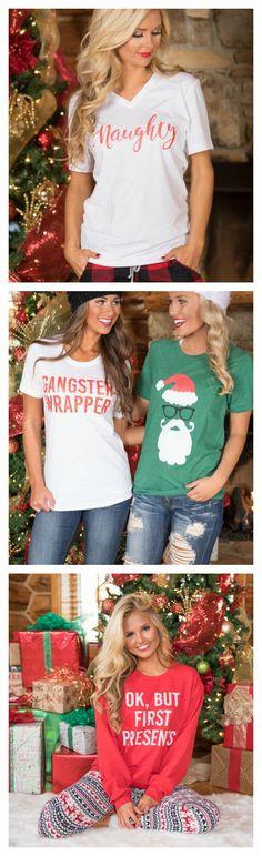 Christmas graphic tees on Pinklily.com