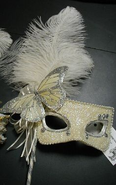 Masquerade Masks for Prom Masquerade Masks For Prom, Masquerade Wedding, Masquerade Dresses, Venetian Carnival Masks, Venetian Masquerade, Mardi Gras, Mascarade Mask, Butterfly Mask, White Butterfly