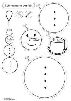 schneemann puppe vorlage zum ausdrucken   bastelvorlagen weihnachten, weihnachten basteln