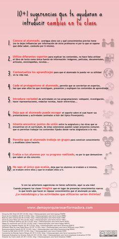 """Hola: Compartimos una infografía sobre """"11 Recomendaciones para que tus Clases sean más Efectivas"""". Un gran saludo.  Elaboración: demayorquieroserformadora.com  Enlaces de interés: Desc..."""