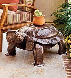 Hammered Iron Patio & Garden Turtle