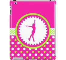 iPad Case/Skin -Figure Skating - Pink and Green Polka-Dots by gollygirls