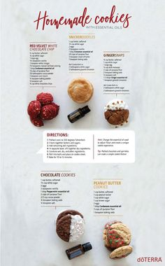 Try one of these homemade cookie recipes with essential oils.