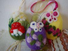 Needle+felted+easter+eggs++handmade+wool+easter+by+ElisFeltCraft,+$25.00