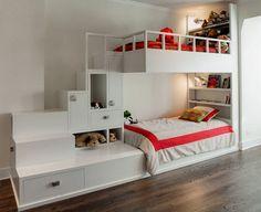 pépinière avec des architectes de l'espace de lit superposé planificateurs armoires