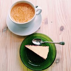A lovely neighborhood cafe with a cool, energetic atmosphere. Besides great coffee, smoothies and raw cakes are served here. Definitely worth trying out! Visit Helsinki, Raw Cake, Great Coffee, Smoothies, The Neighbourhood, Breakfast, Ethnic Recipes, Tableware, Cakes