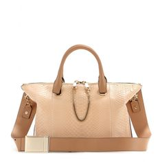 Chloé - Baylee leather and snakeskin tote - mytheresa.com GmbH