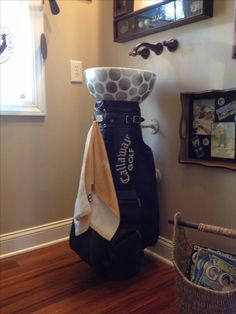 Our golf theme powder room