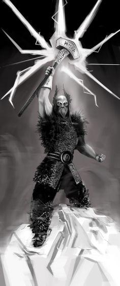 Thor, Thundergod by HaronSeehagen.deviantart.com