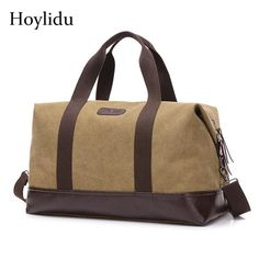3bd600e7799f Vintage Canvas Travel Bag Large Capacity High Quality Duffle Bag ...