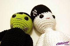 Mr. & Mrs. Frankie Stein Amigurumi Monster Plush